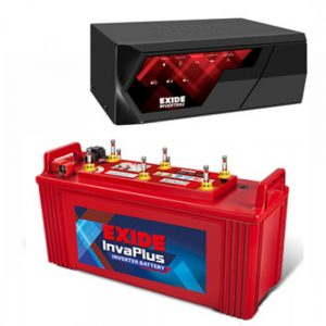 EXIDE MAGIC 625VA UPS INVERTER + EXIDE INVA PLUS 1350 135 AH BATTERY