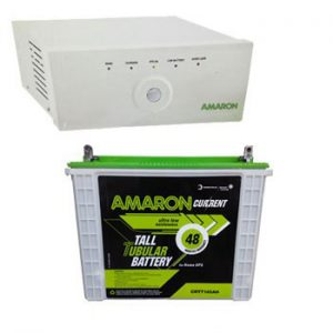 Amaron 880VA Inverter + Tall Tubular 150AH Battery Combo