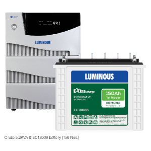 Luminous Home UPS 5.2 kVA Cruze+ + 150 Ah EC 18036 Battery Combo