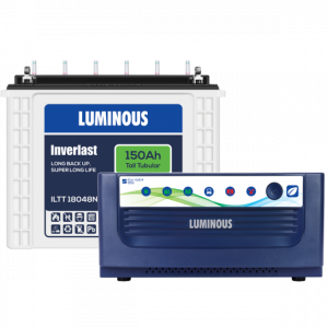 Luminous Home UPS 1400VA Eco Volt 1550 +150 Ah ILTT18048 Battery Combo