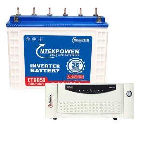 Microtek Inverter 1200VA + Battery 200AH Combo