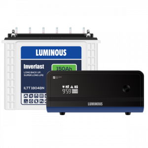 Luminous Home UPS 900VA Zelio+ 1100 + 150 Ah ILTT18048N Battery Combo
