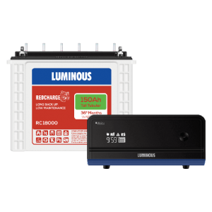 Luminous Home UPS 900VA Zelio 1100 + 150 Ah RC18000 Battery Combo